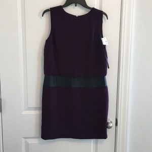 Woman's Ralph Lauren 12p purple back zip dress.